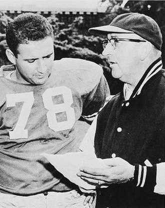 Peter P. Stevens - Stevens (right) discusses a play with a player