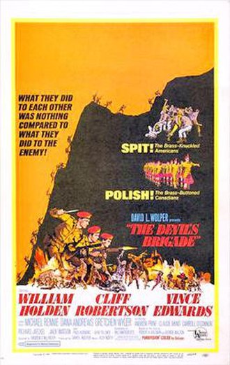 The Devil's Brigade (film) - Original film poster by Sandy Kossin