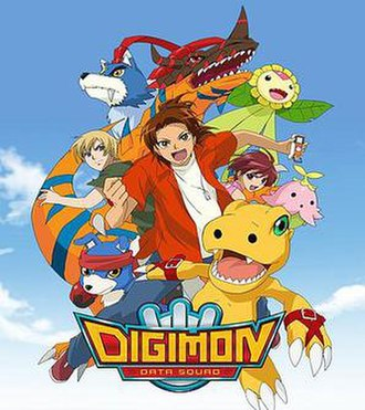 Digimon Data Squad - Promotional poster from the series, depicting the main characters
