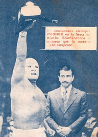 Dr. Wagner - Dr. Wagner after winning the Mexican National Light Heavyweight Championship in 1973.