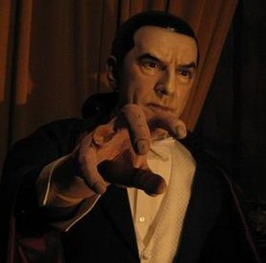 Dracula in popular culture - Bela Lugosi as Count Dracula at the Hollywood Wax Museum