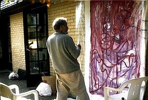 Herbert Gentry - Herbert Gentry painting in Falsterbo, August 1990
