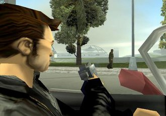 Grand Theft Auto III - Combat in Grand Theft Auto III was reworked to allow players to commit drive-by shootings by viewing sideways in a car.