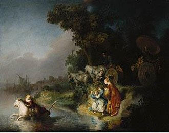 Rembrandt in Southern California - The Abduction of Europa, 1632, Getty Museum. In Southern California by 1995