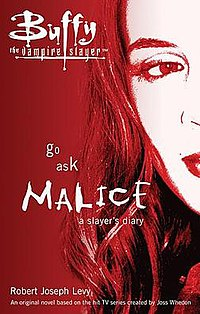The cover of the book features a photo of the actress, Eliza Dushku, who portrayed the character 'Faith Lehane'.