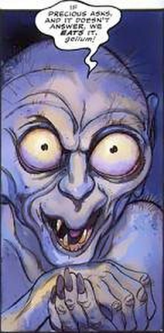 The Hobbit - Gollum as depicted in the 1989 comic-book adaptation by David Wenzel