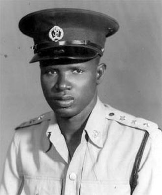 Gordon Muortat Mayen - Gordon Muortat in police uniform