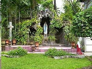 San Carlos Seminary - A replica of the grotto of Our Lady of Lourdes in San Carlos Seminary, Guadalupe Viejo, Makati City.