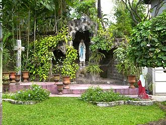 San Carlos Seminary - A replica of the grotto of Our Lady of Lourdes in San Carlos Seminary, Guadalupe Viejo, Makati City.