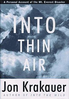 <i>Into Thin Air</i> A 1997 account of The Mt. Everest disaster