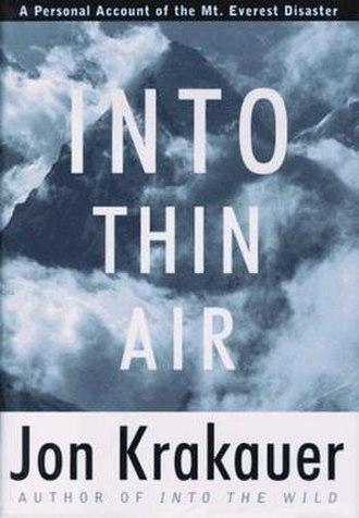 Into Thin Air - Image: Into Thin Air