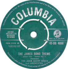 Side A of the 1962 UK single