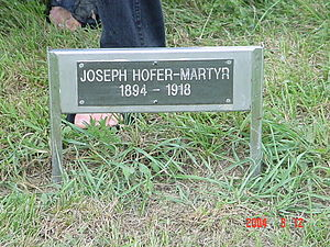 Hutterite - Joseph Hofer – Martyr