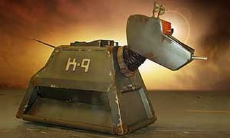 K9 (Doctor Who) - K9 Mark III as he appeared in the 2006 series, showing wear and tear.