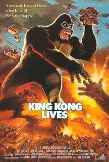 <i>King Kong Lives</i> 1986 American monster film directed by John Guillermin