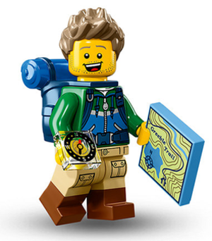 Lego minifigure - A Lego Minfigures hiker, released 2016