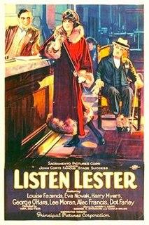 <i>Listen Lester</i> (film) 1924 film by William A. Seiter