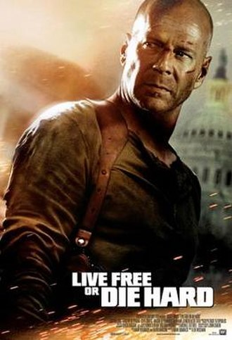 Live Free or Die Hard - Theatrical release poster