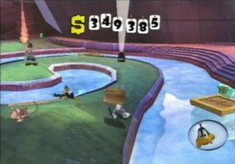 Looney Tunes: Back in Action (video game) - The various elements of Looney Tunes Back in Action (GameCube version) in the Las Vegas world are shown.