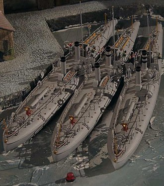 HNoMS Lyn (1882) - Image: Lyn class torpedoboats (models)