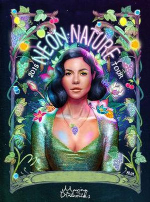 Neon Nature Tour - Image: Marina and the Diamonds Neon Nature Tour poster