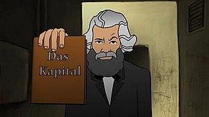 Karl Marx in film - Image: Marx anim scene