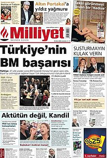 <i>Milliyet</i> Turkish newspaper (daily)