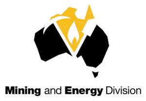 Construction, Forestry, Mining and Energy Union - Image: Miningandenergy