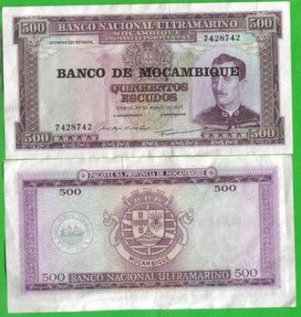 Mozambican escudo - Image: Mocambique