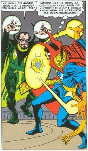 Baron Mordo - Baron Mordo battles Doctor Strange. Art by Steve Ditko.