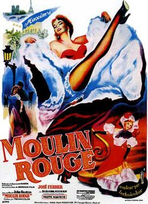 Moulin Rouge (1952 film) - French theatrical poster