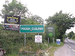 Signs outside Moycullen village