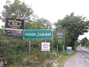 Moycullen - Signs outside Moycullen village