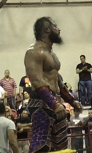 The Mecha Wolf 450 - Mr. 450 in his 2017 ring gear.