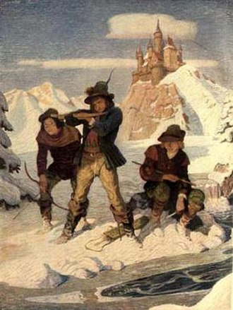 """The Mysterious Stranger - Frontispiece of 1st edition """"Eseldorf was a paradise for us boys"""""""