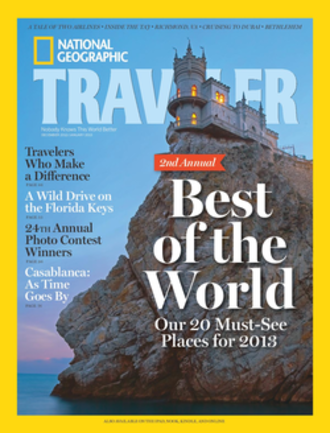 National Geographic Traveler - December 2012/January 2013 cover of National Geographic Traveler