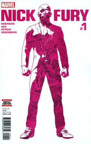 Nick Fury (2017 comic book) - Cover to the first issue, art by ACO