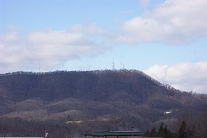 Bays Mountain -  Northernmost Terminus of Bays Mountain at Kingsport, Tennessee