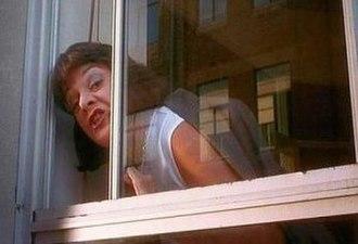 Not happy, Jan! - Deborah Kennedy's famous businesswoman character delivers the now-famous line.