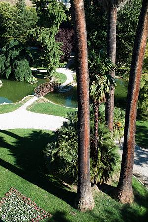 Borgo Storico Seghetti Panichi - Parco Storico Seghetti Panichi showing Ludwig Winter's design with mature palms and oriental features