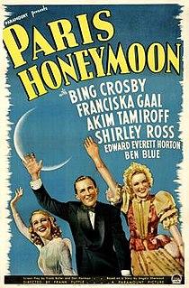 <i>Paris Honeymoon</i> 1939 film by Frank Tuttle
