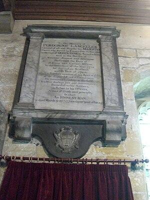 Peregrine Lascelles - Image: Peregrine Lascelles epitaph CIMG6155
