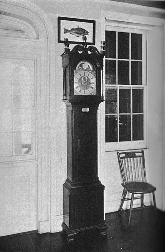 Peter Stretch - Peter Stretch tallclock, circa 1740, at the State in Schuylkill.