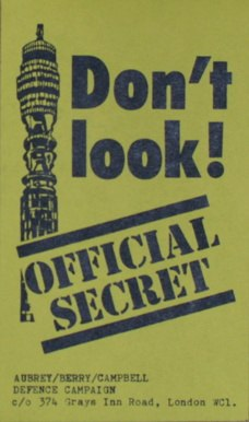 Post Office tower secrecy flyer 1978