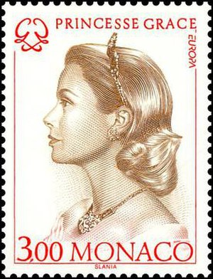 Postage stamps and postal history of Monaco - A Monaco postage stamp of Princess Grace, which was issued as part of the 1996 Europa postage stamp series honoring famous women.