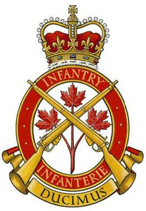 Royal Canadian Infantry Corps - Badge of the Royal Canadian Infantry Corps