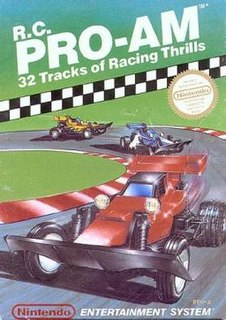 <i>R.C. Pro-Am</i> Racing video game for NES from 1988