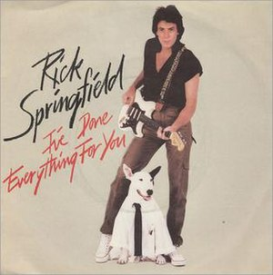 I've Done Everything for You - Image: Rick Springfield I've Done Everything For You single cover