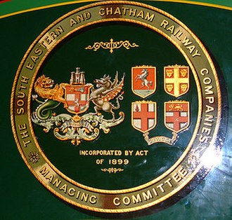 South Eastern and Chatham Railway - Coat of Arms