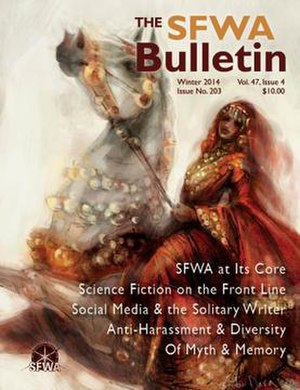 Science Fiction and Fantasy Writers of America -  Front cover of SFWA Bulletin no. 203 (Winter 2014), the first issue after reform